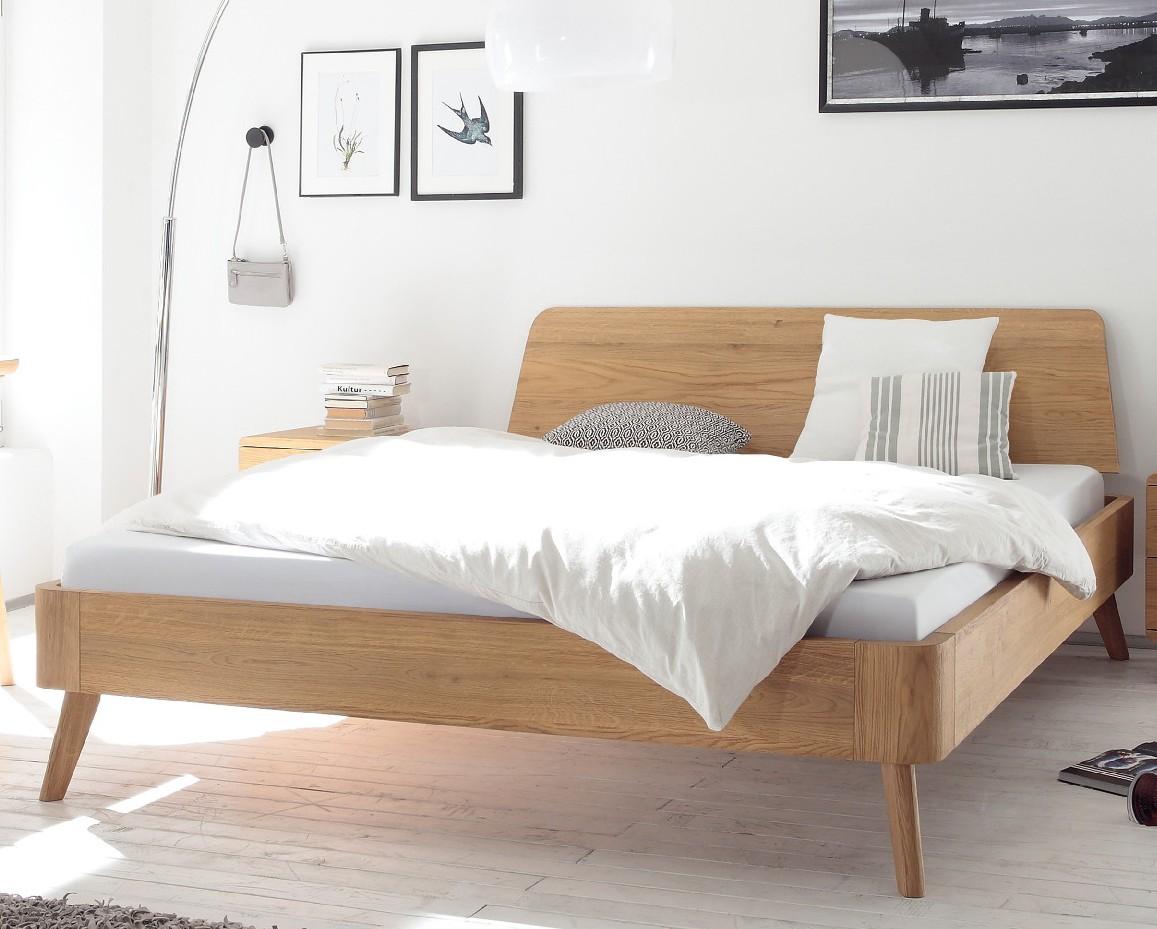 Akzentmoebel Unger Shop Bett Hasena Oak Bianco Holz-Kopfteile