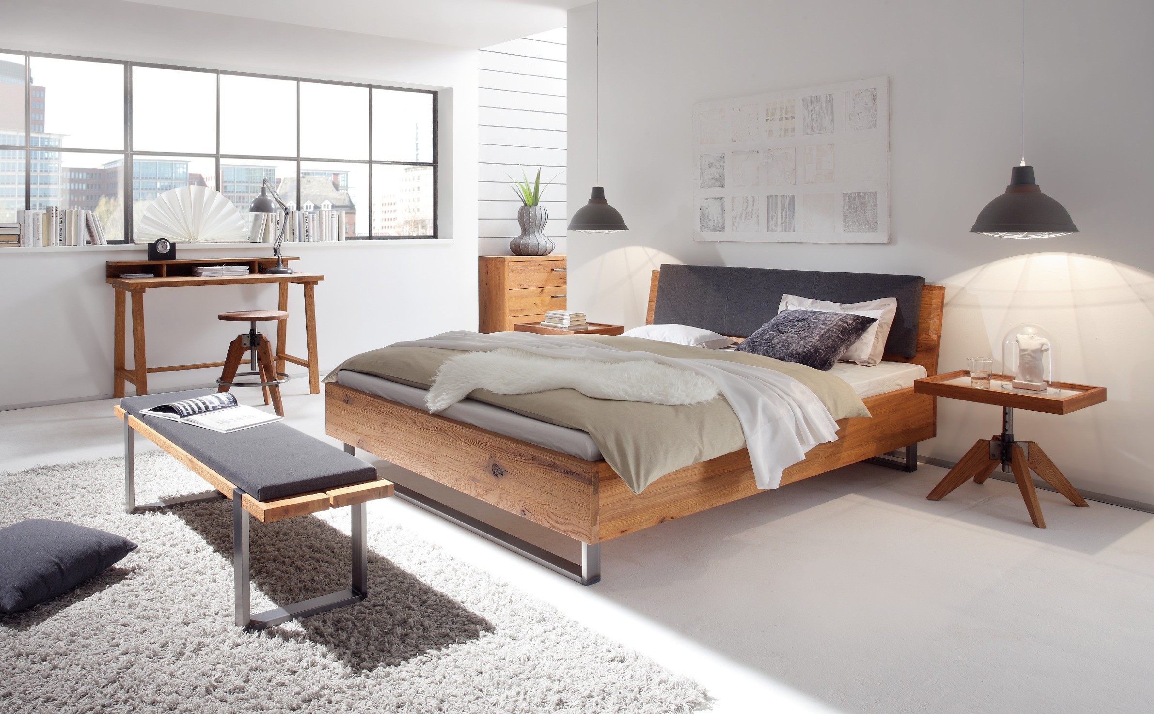 akzentmoebel unger shop bett hasena oak line wild cadro 23. Black Bedroom Furniture Sets. Home Design Ideas