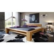 Massivholz Bett Taiga - jedes Bett ein Unikat! Kopfteil aus 2 Balken